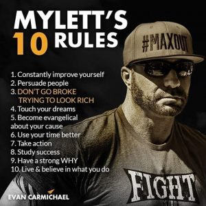 picture of ed mylett's 10 rules