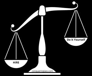 picture of hire vs do it yourself scale