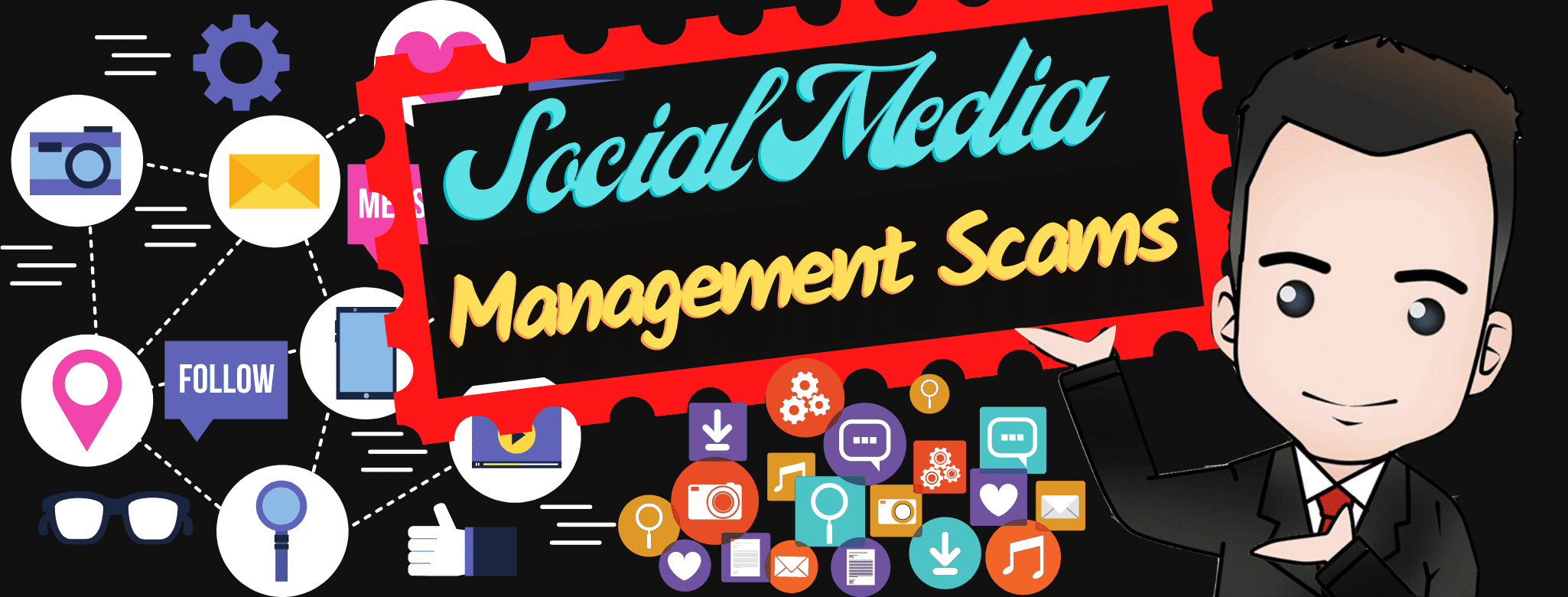 picture of Social Media Management Scams banner