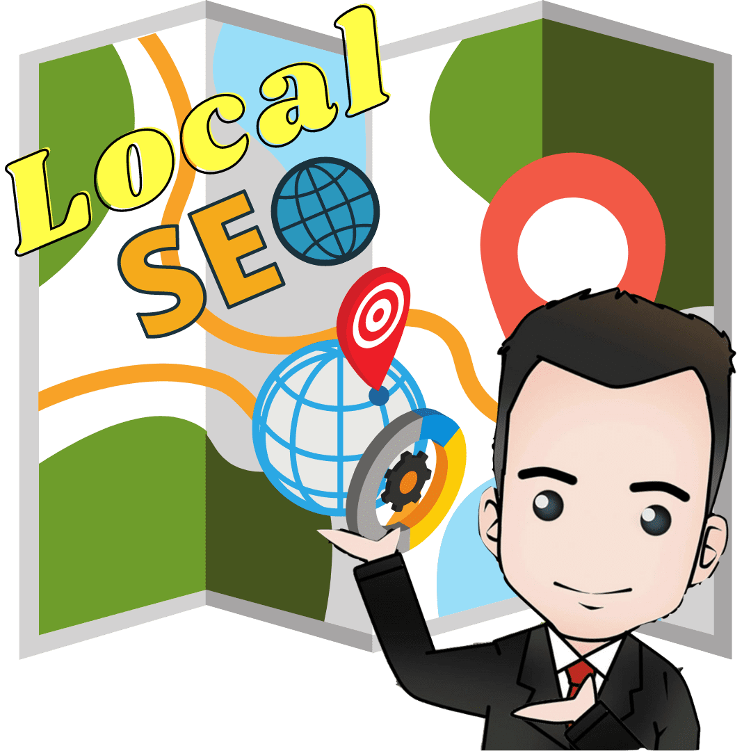 picture of local seo cartoon image