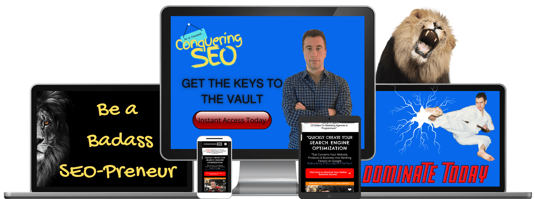 picture of conquering seo product images